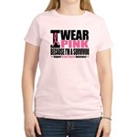 I Wear Pink Ribbon Women's Light T-Shirt
