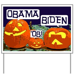 Pumpkin Patch Barack Obama Lawn Sign