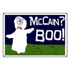 John McCain? Boo!  Political Halloween Ghost Lawn Sign