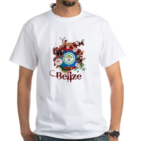 Product Image of Butterfly Belize White T-Shirt