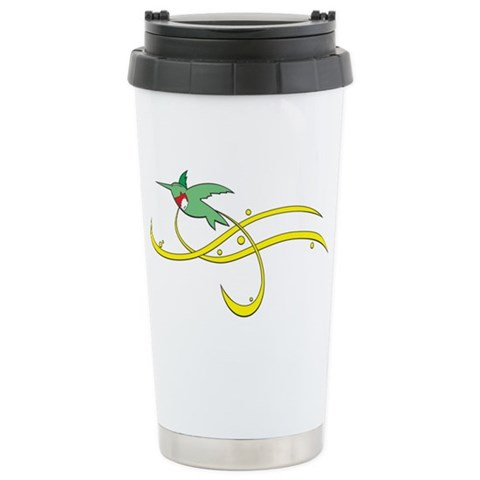Hummingbird Whimsy  Cute Ceramic Travel Mug by CafePress