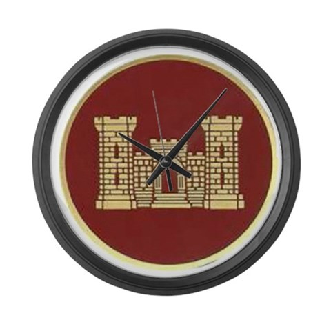 Army Engineer  Military Large Wall Clock by CafePress