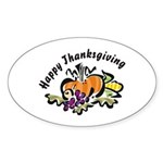 Thanksgiving Day Sticker (Oval 50 pk)