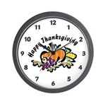 Thanksgiving Day Wall Clock