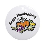 Thanksgiving Day Ornament (Round)