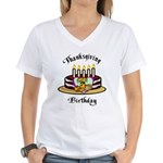 Thanksgiving Birthday Women's V-Neck T-Shirt