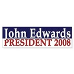 John Edwards President 2008 (bumper sticker)
