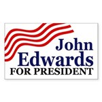 John Edwards for President (bumper sticker)