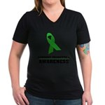 TS Awareness Women's V-Neck Dark T-Shirt