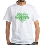 Green Heart Recycle White T-Shirt