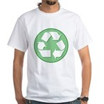 White Recycling Sign White T-Shirt