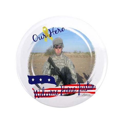 3.5quot; Button 10 pack Military 3.5 Button 10 pack by CafePress