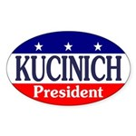 Kucinich for President (oval bumper sticker)