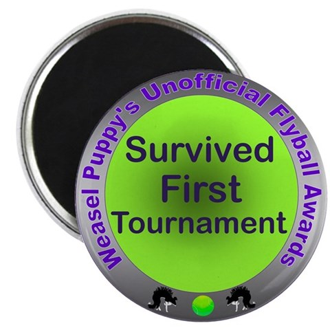 1st Tournament Flyball Award 2.25 Magnet 10 pack Pets 2.25 Magnet 10 pack by CafePress