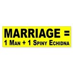Marriage Equals ... (bumper sticker)