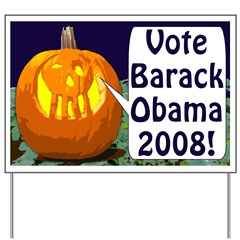 Halloween Pumpkin for Obama Lawn Sign