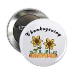 "Thanksgiving Flowers 2.25"" Button"