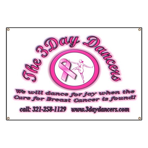 3-Day Dancers Logo  Health Banner by CafePress