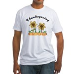 Thanksgiving Flowers Fitted T-Shirt