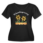 Thanksgiving Flowers Women's Plus Size Scoop Neck