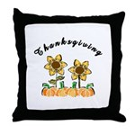 Thanksgiving Flowers Throw Pillow