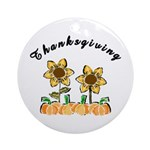 Thanksgiving Flowers Ornament (Round)