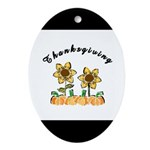 Thanksgiving Flowers Ornament (Oval)
