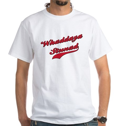Product Image of Whaddaya Stunad White T-Shirt