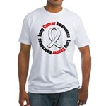 LungCancerAwareness Fitted T-Shirt