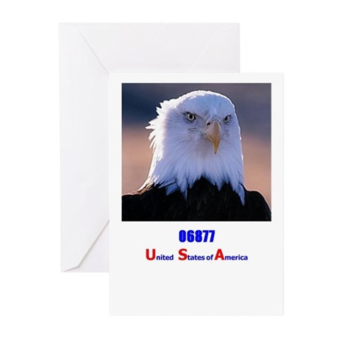 06877  Usa Greeting Cards Pk of 20 by CafePress