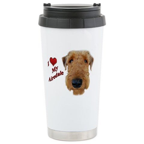 - Airedale Terrier Pets Ceramic Travel Mug by CafePress