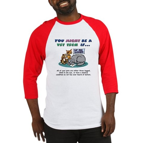 - You Might Be a Vet Tech Animals Baseball Jersey by CafePress