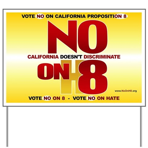 - California Doesn't Discriminate Gay Yard Sign by CafePress