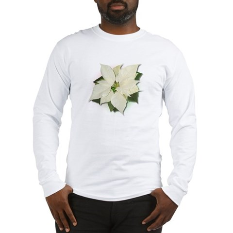 White Poinsettia Humor Long Sleeve T-Shirt by CafePress