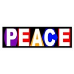 Peace in Shapes and Colors bumper sticker