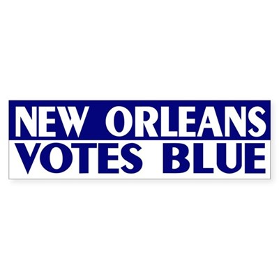 New Orleans Votes Blue bumper sticker