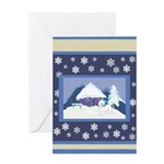 Snowflake Bichon Frise Holiday Gifts & Cards