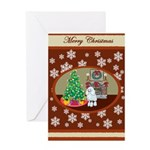 Classic Poodle Christmas Gifts & Cards