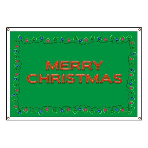 Christmas Lights  Holiday Banner by CafePress