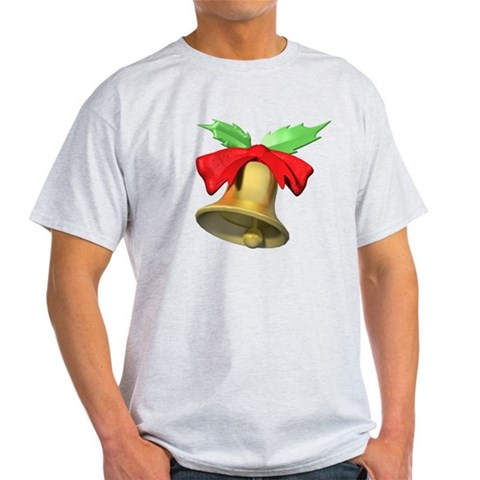 Christmas Noel Bell Gift Stor Christmas Light T-Shirt by CafePress