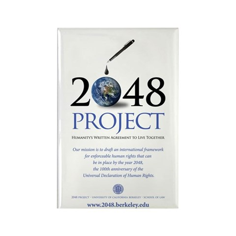 2048 PROJECT  Current events Rectangle Magnet 100 pack by CafePress