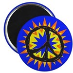 Bright Bang Peace Sign Magnet