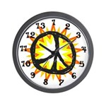 Burning Peace 13 hour Wall Clock