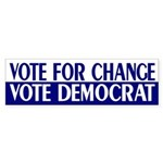 Vote Change, Vote Democrat (sticker)