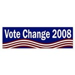 Vote Change 2008 (bumper sticker)