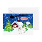 Believe Bichon Frise Christmas Decor