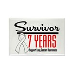 Lung Cancer Survivor Rectangle Magnet