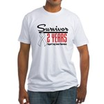 Lung Cancer Survivor 2 Years Fitted T-Shirt