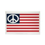 Peace Flag Rectangle Magnet (10 pack)