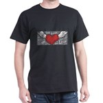 love heart valentines angel T-Shirt